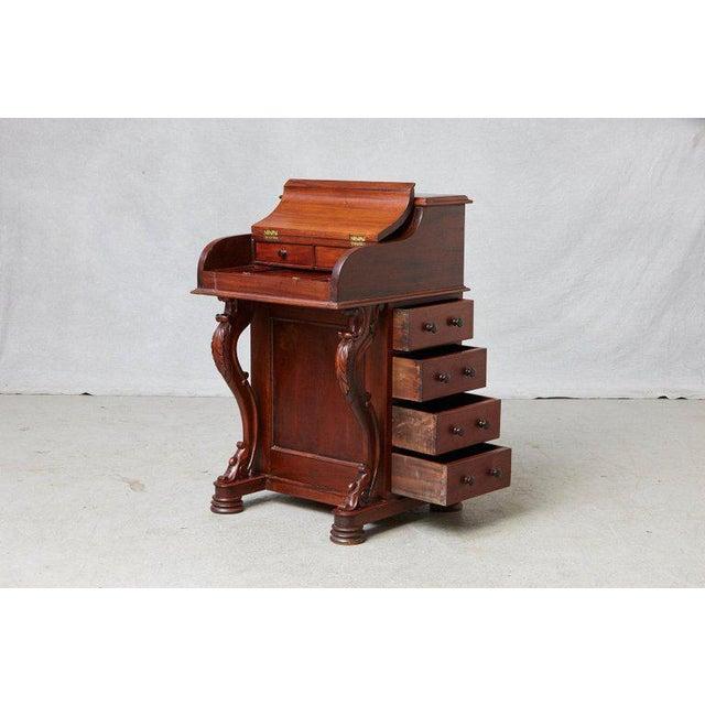 20th Century Walnut Piano Top Davenport Desk For Sale - Image 4 of 13