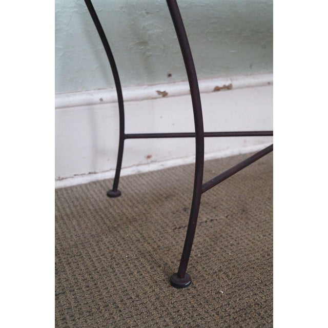 Black Iron Frame Regency Style Bench For Sale - Image 9 of 10