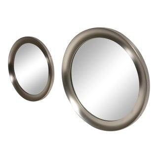 "Pair of ""Narcisso"" Wall Mirrors by Sergio Mazza for Artemide For Sale"