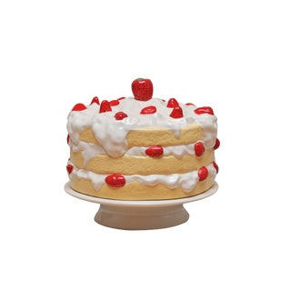 Ceramic Strawberry Shortcake Cake Stand For Sale