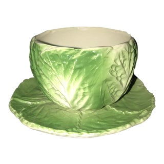 Bordallo Phineiro Cabbage Leaf Bowl and Plate Set