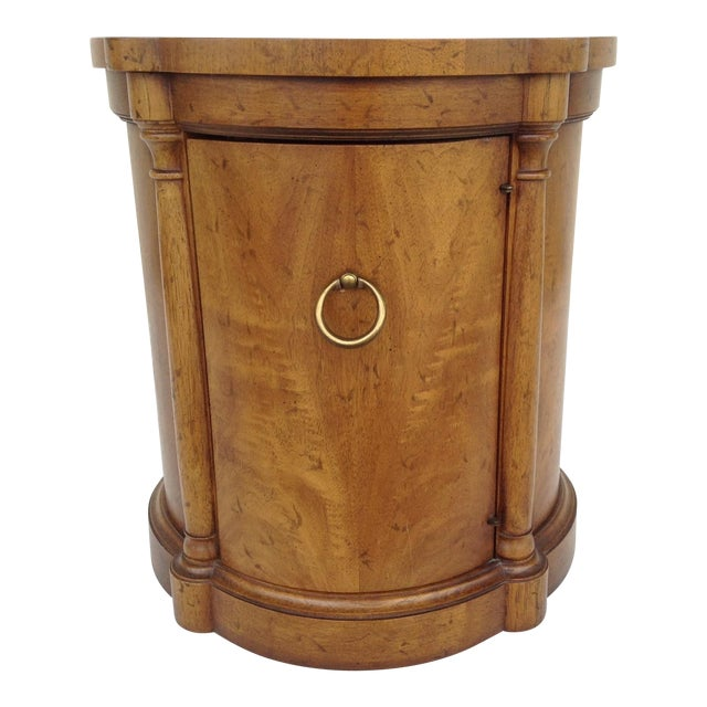 Vintage Regency Style Columned Round End Table - Image 1 of 10