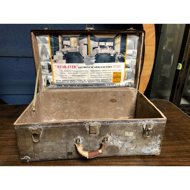 Vintage Well-Worn Wearever Salesman Sample Suitcase For Sale In Sacramento - Image 6 of 11