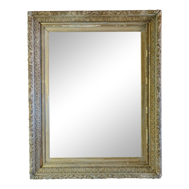 19th C. French Painted & Gilt Mirror For Sale