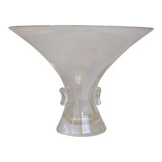 Steuben Crystal Pinch Bowl/Vase For Sale