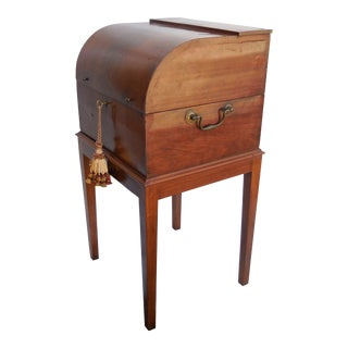 Antique Liquor Box on Stand For Sale