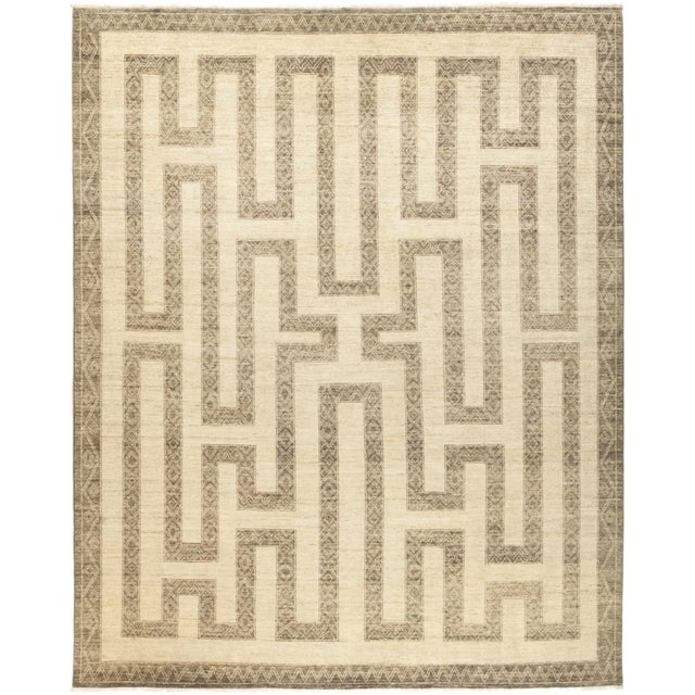 """Oromo, African Area Rug - 8' 2"""" X 9' 10"""" For Sale - Image 4 of 4"""