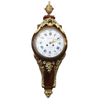 Early 19th Century Louis XV Style Antique French Wall Clock For Sale