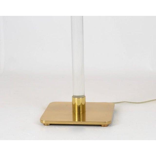 Hansen Glass and Brass Floor Lamp Usa, 1970 - Image 7 of 9