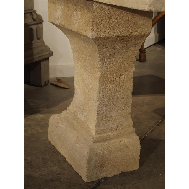 Pair of Carved Limestone Console Tables from the South of France - Image 6 of 11