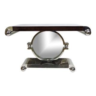 Brueton Post Modern Macassar Ebony Bearing Console Table by J. Wade Beam For Sale