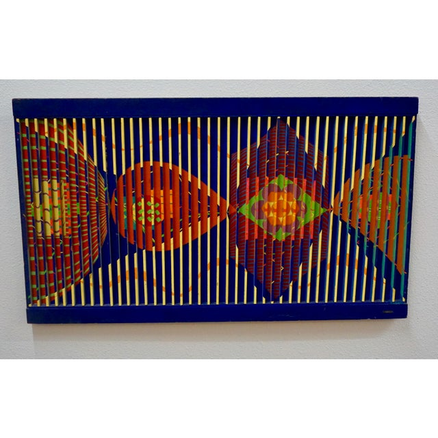 Abstract Painted Relief by Louis Nadalini For Sale In Palm Springs - Image 6 of 7