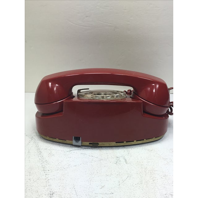 Vintage Red Princess Rotary Dial Telephone - Image 6 of 11