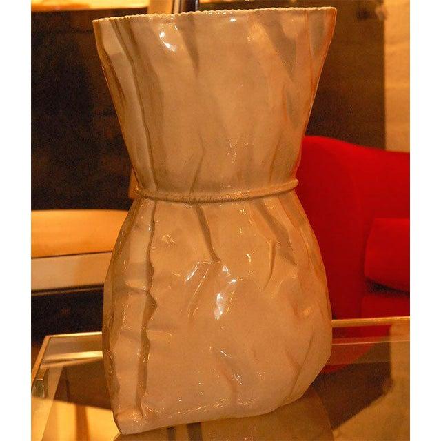 Brown Italian Ceramic Vase For Sale - Image 8 of 9
