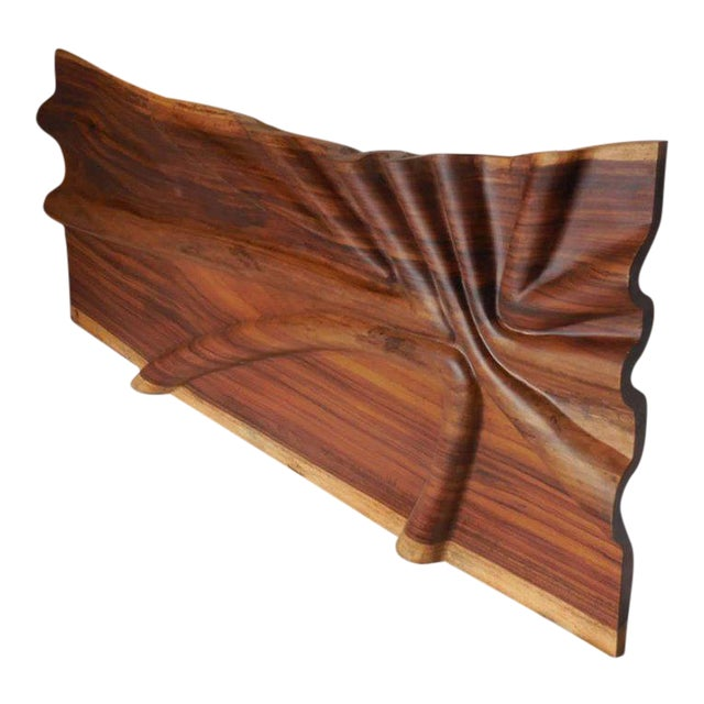 Modern Live Edge Undulating Wall Sculpture or Headboard For Sale