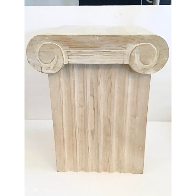 Ionic Column Form Wood Storage Cocktail Table With Removable Capital Top For Sale - Image 10 of 10