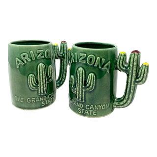 Pair of Vintage Arizona Ceramic Mugs For Sale