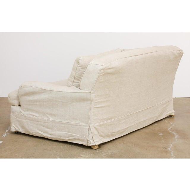 Restoration Hardware Linen English Arm Slipcover Sofa ...