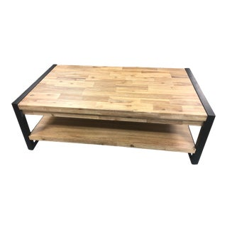 Acacia Wood Coffee Table For Sale