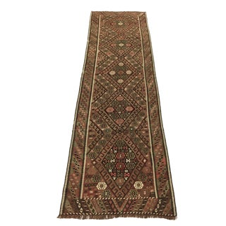 Stunning Antique Pink and Beige Kagiman Kilim Runner | 2'11 X 10'3 For Sale