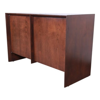 Robsjohn-Gibbings for Widdicomb Mid-Century Modern Walnut Sideboard Credenza, Newly Restored For Sale