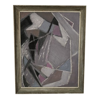 Vintage Abstract Expressionist Original Painting For Sale