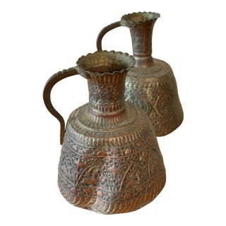 Antique Turkish Water Jugs - a Pair For Sale