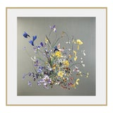 Image of Early Spring, Iris, Daffodil, Floral Collage by Marcy Cook For Sale