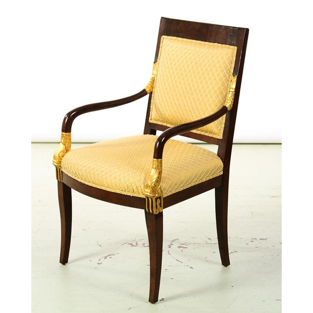 Empire French Empire Mahogany Chairs -A Pair For Sale - Image 3 of 10
