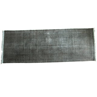"Vintage Overdyed Distressed Runner - 4'10"" X 13'4"" For Sale"