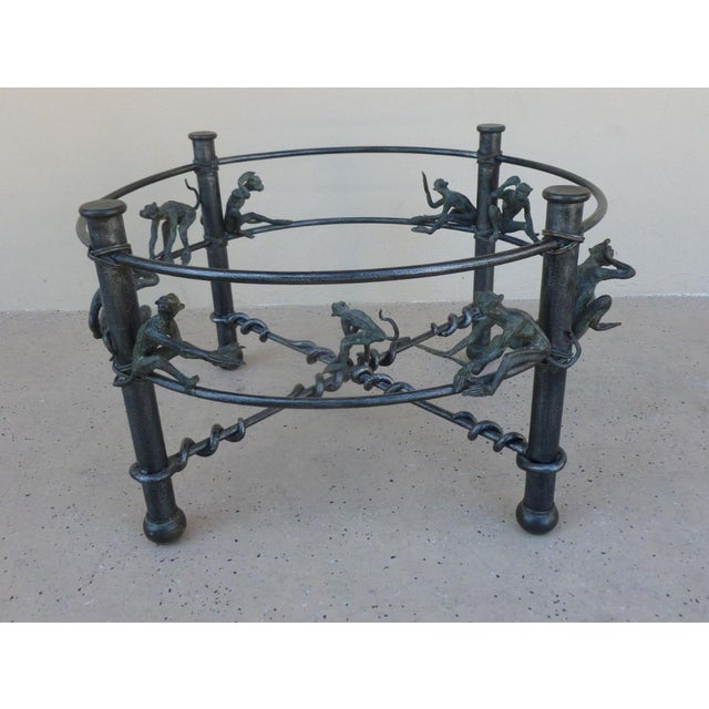Metal Vintage Wrought Iron Monkeys Coffee Table For Sale - Image 7 of 10