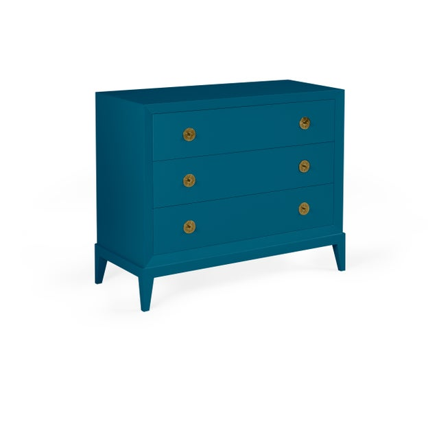 Transitional Casa Cosima Hayes Chest, Blue Danube For Sale - Image 3 of 3