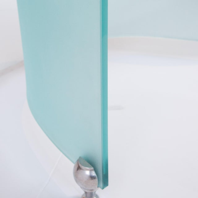 Modern S-Curve Glass Coffee Table - Image 3 of 6