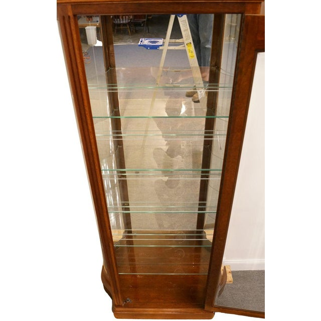 """Late 20th Century 20th Century Traditional Jasper Cabinet Solid Colonial Cherry 37"""" Curio Display Cabinet For Sale - Image 5 of 12"""