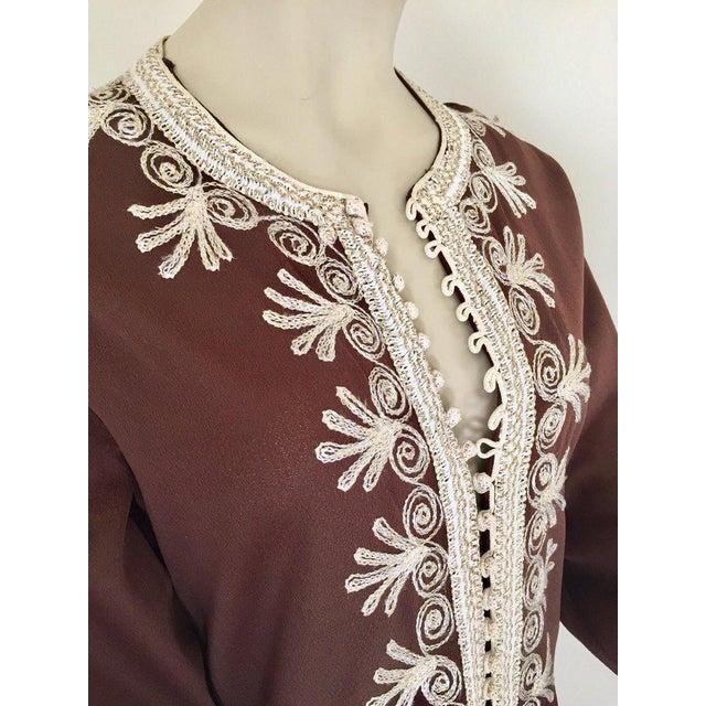 Metal Moroccan Caftan, Maxi Dress Kaftan, 1970 Size Small For Sale - Image 7 of 13