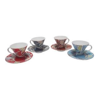 Vintage 1980s Bijoux Terner Espresso Cup Set - Set for 4 For Sale
