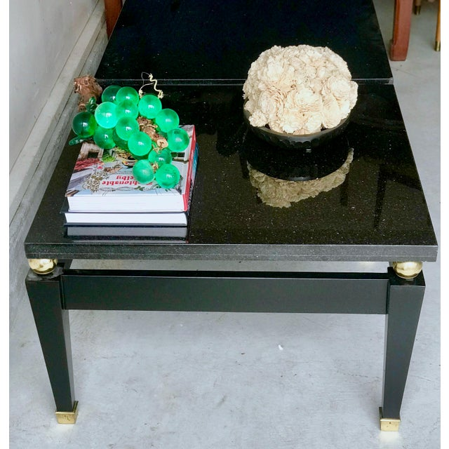 1980's Art Deco Black Lacquer Side Tables - a Pair For Sale In Los Angeles - Image 6 of 9
