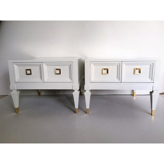 Widdicomb Mid-Century End Tables Nightstands- Pair - Image 3 of 5