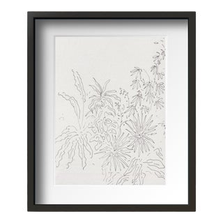 """Garden "" Contemporary Still Life Drawing by Tang Wen Ching, Framed For Sale"