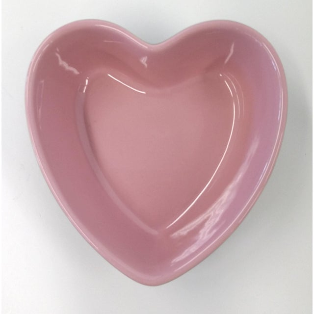 Contemporary Chantal Pink Ceramic Heart-Shaped Bowl For Sale - Image 3 of 7