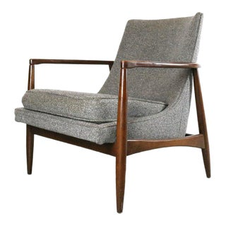 Vintage Mid Century Larsen Style Lounge Chair For Sale