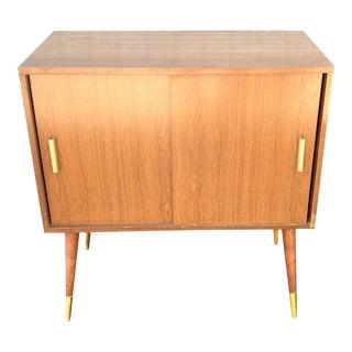 Vintage Mid-Century Media Cabinet For Sale