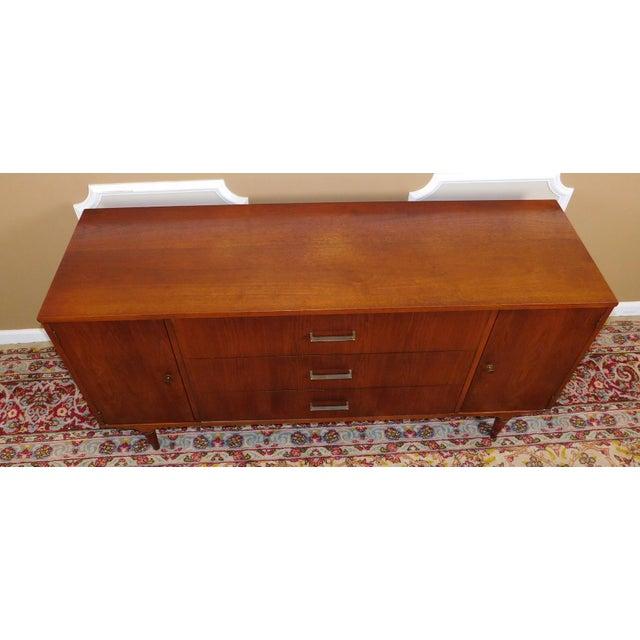 American Modern Lane Furniture Walnut Dining Room Sideboard Credenza Circa 1970's - Image 8 of 11
