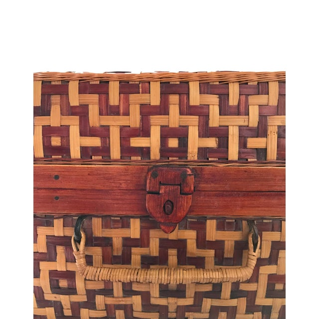 Geometric Weave Basket Trunk - Image 4 of 8