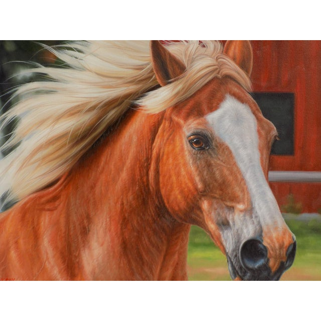 Horse Portrait Painting For Sale - Image 4 of 4