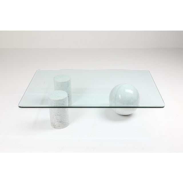 Italian White Marble Coffee Table by Massimo Vignelli For Sale - Image 6 of 8