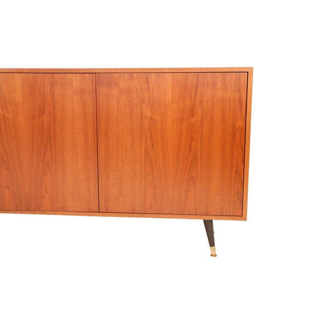 1970s Mid-Century Curated Danish Teak Credenza For Sale - Image 4 of 8