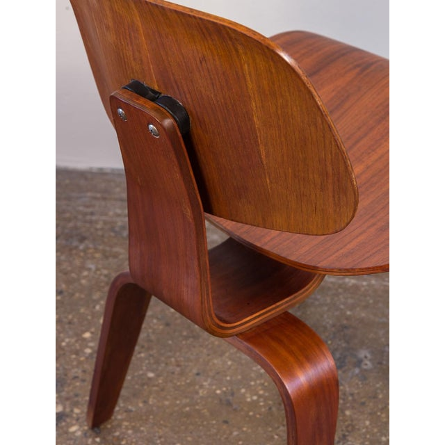 Early Eames Walnut Dcw Chairs for Herman Miller - a Pair For Sale In New York - Image 6 of 12