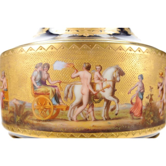 "Ceramic 19th C. Royal Vienna 22"" Museum Piece Urn For Sale - Image 7 of 10"