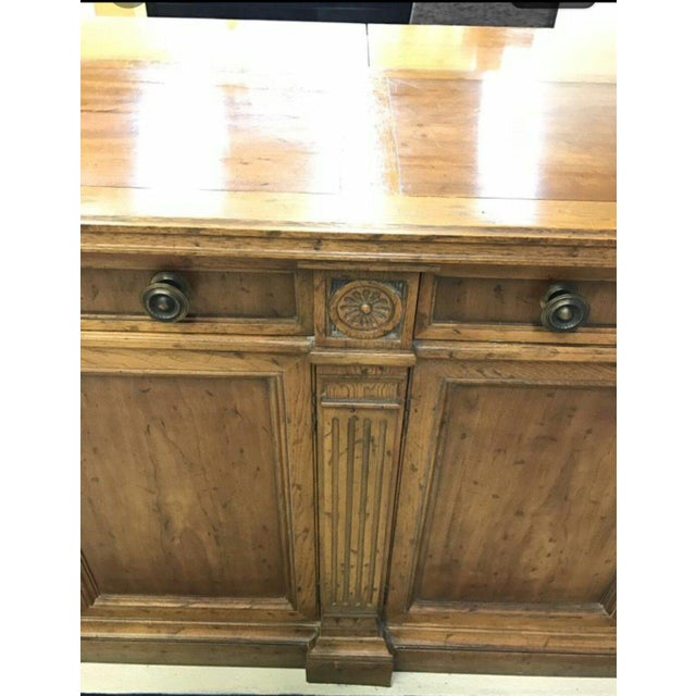 Heritage Grand Tour Rustic Solid Wood Buffet Server For Sale - Image 5 of 6